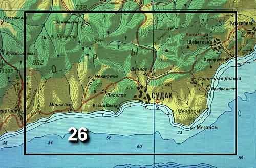 09с. Карта побережья Крыма