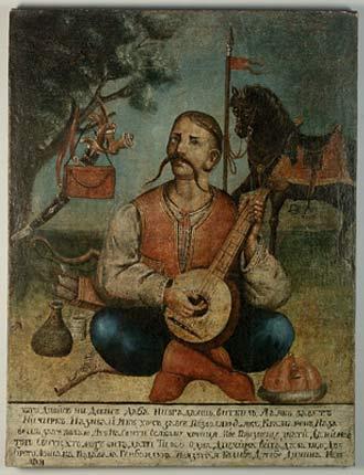 Козак Мамай, самый популярный образ в Лесостепной и Степной Украине.