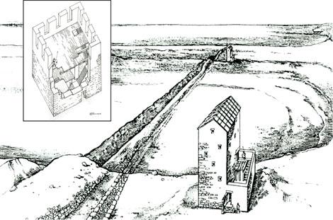 Аккосов (Асандров, Узунларский) вал - грандиозное контрольно-оборонительное сооружение от Азовского до Черного моря. Около 2 тысяч лет назад эти башни служили еще и элеватора для сбора зерна и не давали возможность беспошлинно торговать пшеницей