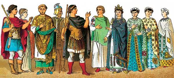 Костюм и вооружение знатных византийцев