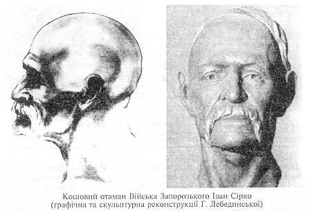 Иван Сирко - скульптурная реконстрация по черепу