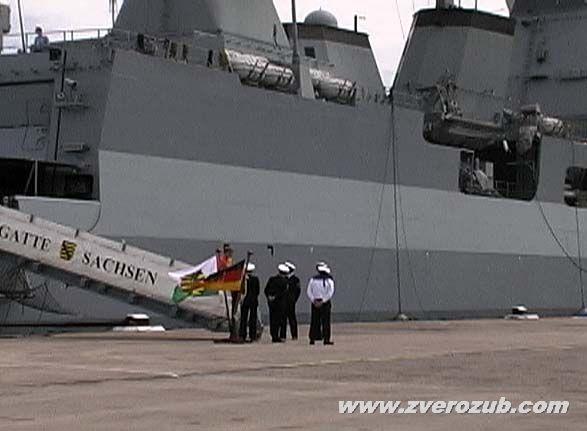 немецкий военный корабль с дружеским визитом в Севастополе