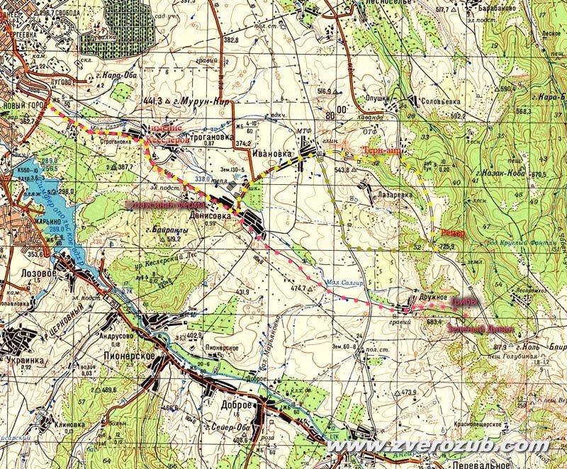 карта маршрута Симферополь