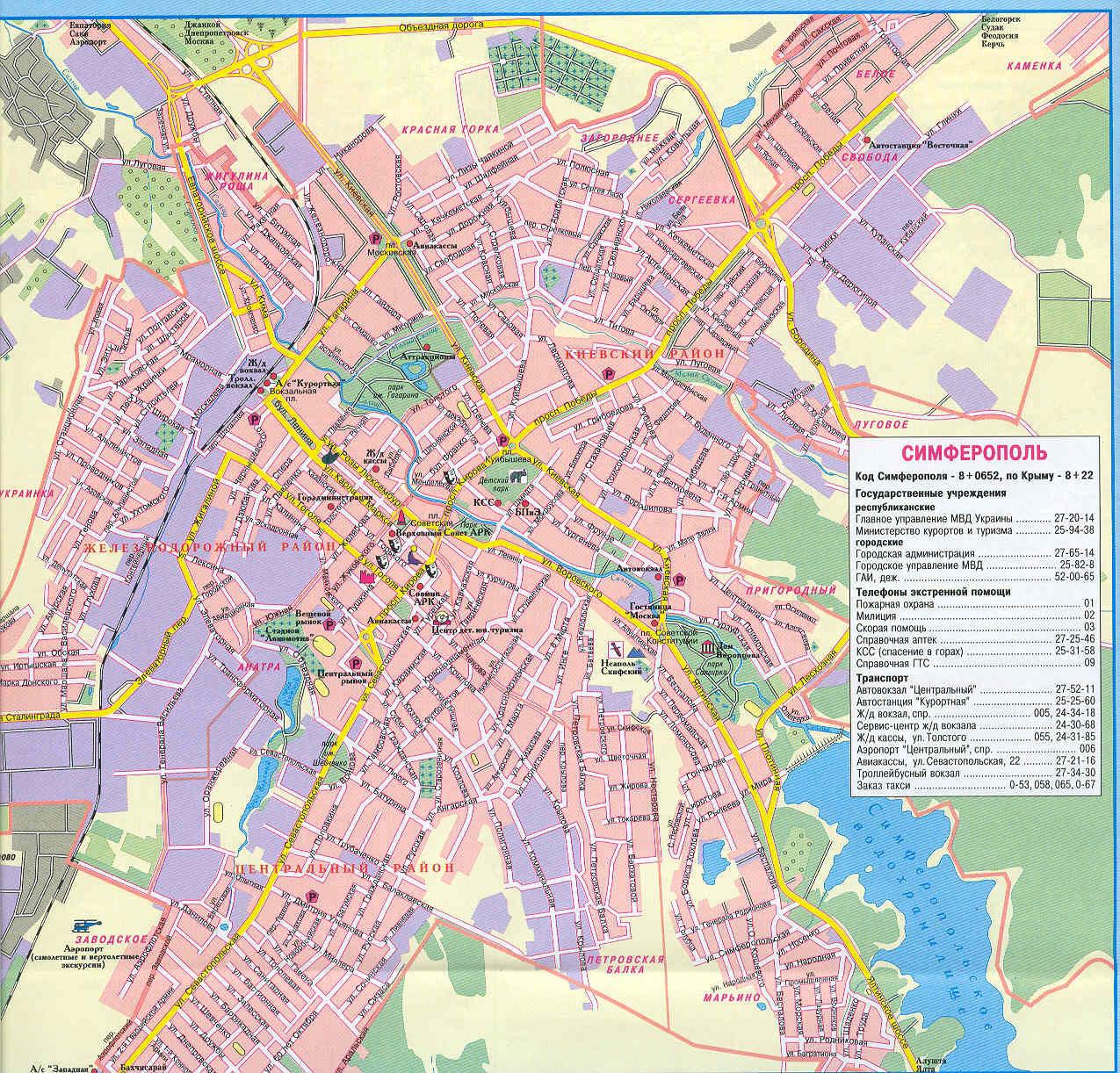 Карты, схемы возможных маршрутов.