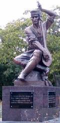 Ашик Омер - памятник музыканту и поэту в Евпатории